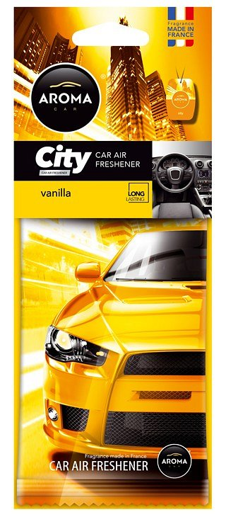 Vůně do auta - Aroma CAR CITY VANILLA