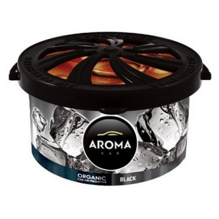 Vůně do auta - AROMA CAR ORGANIC 40g BLACK